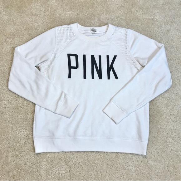 🐠2/$30 VS Pink Mesh Pullover Sweatshirt